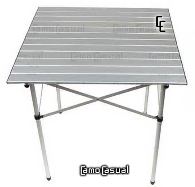 Mesa plegable aluminio camping camocasual for Mesa plegable camping