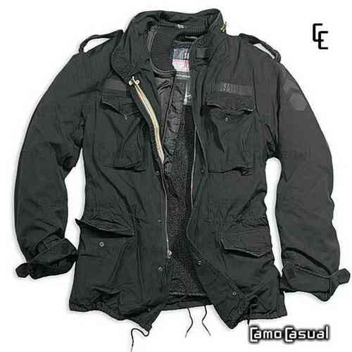 Chaqueta Regiment M65 negra - Surplus