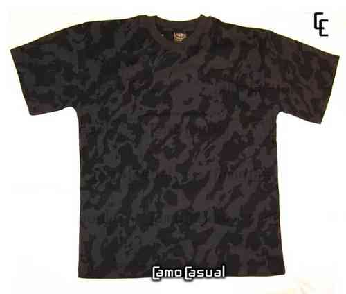 Camiseta Night Camo Camuflaje casual negra