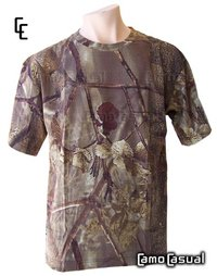 Camiseta Bosque Marrón Camuflaje