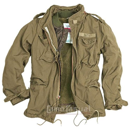Chaqueta Surplus Regiment M65 Verde Kaki casual