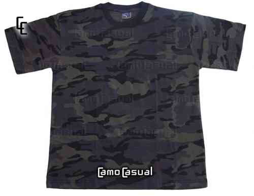Camiseta Night Black casual militar airsoft