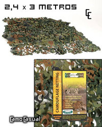 Red Camuflaje Flecktarn 2,4 x 3 m.caza sin brillo
