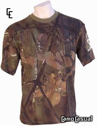 Camiseta Bosque Marrón T2 camuflaje