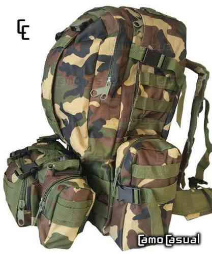 Mochila MultiTransporte camuflaje Woodland