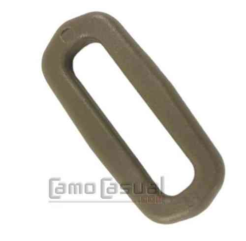 Anilla rectangular D-ring 25 mm Tan ITW Nexus