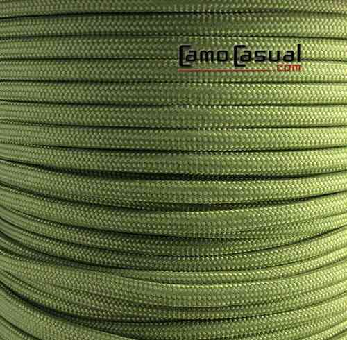 Paracord tipo III 550 Verde musgo - 4mm - 1 m