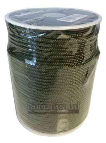 Rollo 100 m cuerda paracord 3 mm verde - básica UK