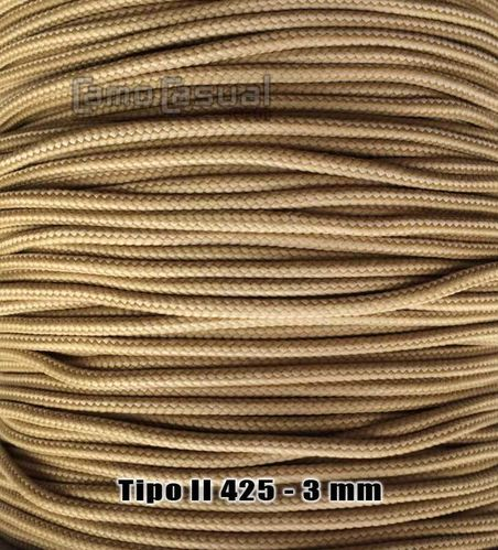 Paracord tipo II 425 Tan 380 - 3mm - 1 metro