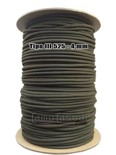 Paracord tipo III 550 Oliva Drab oscuro - 4mm - 1 m