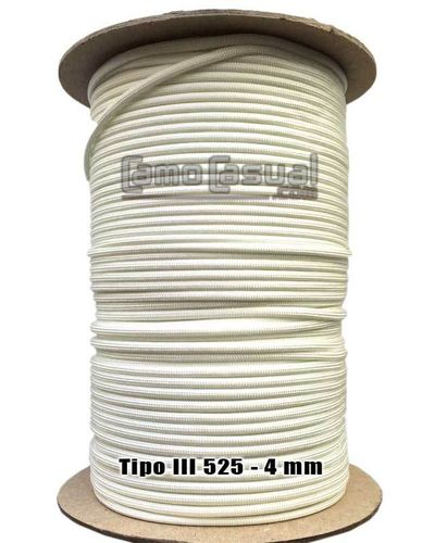 Paracord tipo III 550 blanco - 4mm - 1 metro