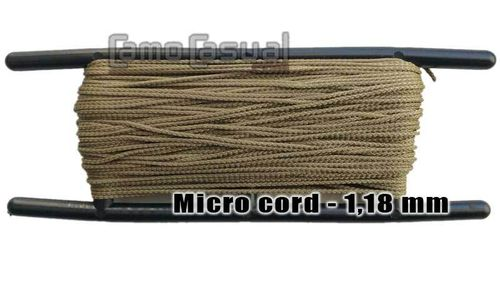 Micro cuerda paracord Tan 499 Tipo I 1,18 mm - 30 m