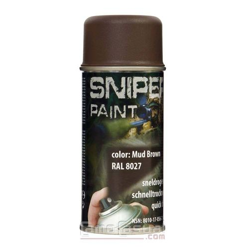 Spray marrón pintura 150 ml secado rápido militar