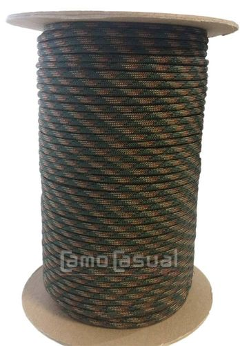 Paracord tipo III 550 4mm woodland 2 camo - 1 m