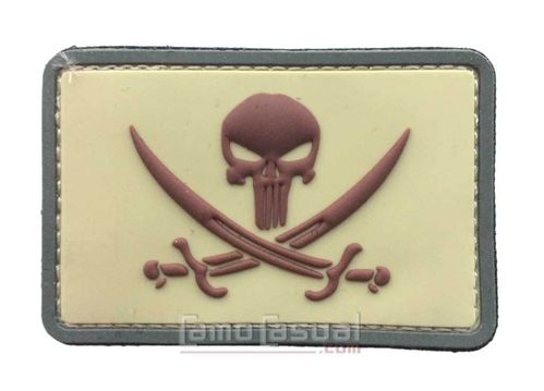 Parche 3D PVC bandera pirata punisher multicam