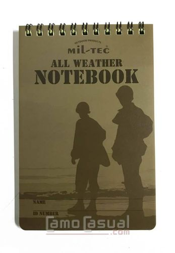 Cuaderno bloc notas A6 impermeable Miltec 48 hojas