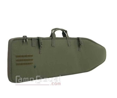 "Porta armas tactico 44 "" verde para mochilas First tactical"