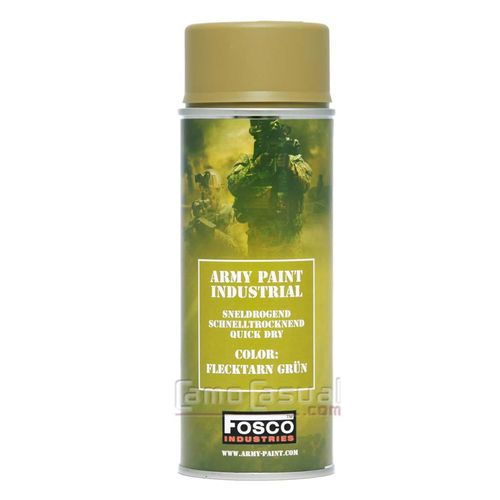 Spray / bote verde Flecktarn Grün 400 ml secado rápido mate