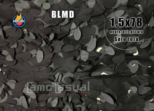 Rollo Red sombreo BLMD Negro / gris oscuro 1,5x78 m PROFIRE