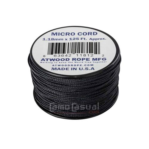 Micro cuerda 1,18 mm negra 125 feet (38 m) USA - 46 kg