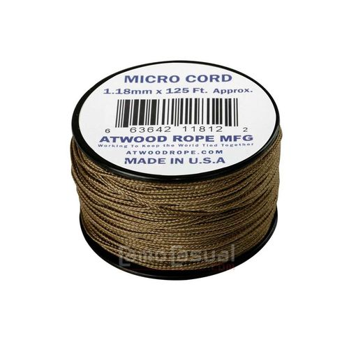 Micro Cuerda Paracord coyote 125 feet (38 m) USA
