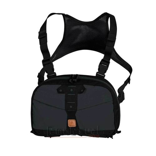 Bolso Chest pack Numbat gris shadow / negro Helikon