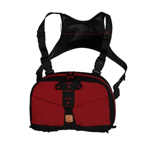 Bolso Chest pack Numbat crimson sky / negro bicolor Helikon