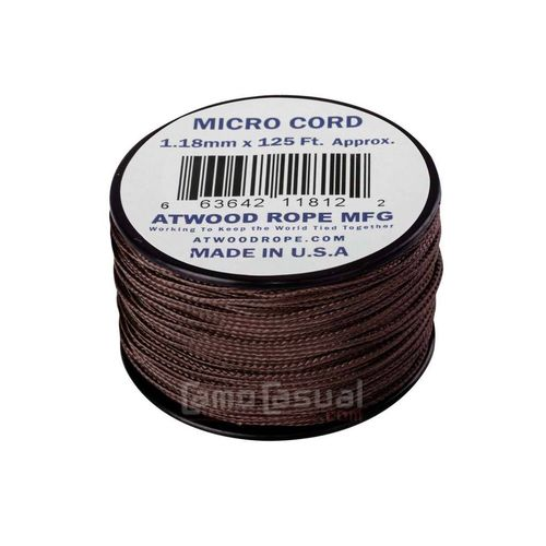 Micro Cuerda Paracord marrón 38 metros (125 feet ) USA