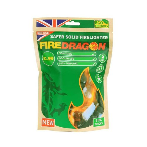 Bolsa 6 pastillas Gel liquido combustible fuego Fire Dragon